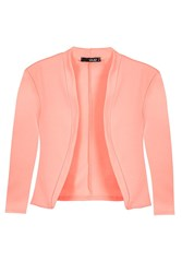 Quiz Coral 3 4 Sleeve Crop Jacket Orange