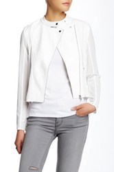 Fate Hi Lo Motor Jacket White