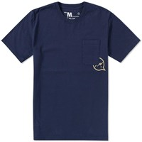 Denim By Vanquish And Fragment Icon Pocket Tee Blue