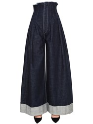 Jacquemus High Waisted Wide Leg Denim Jeans