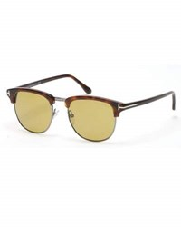 Tom Ford Henry Shiny Half Rim Sunglasses Havana