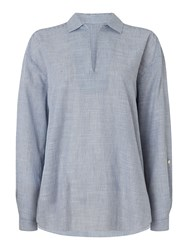 Maison De Nimes Stripe Shirt Blue