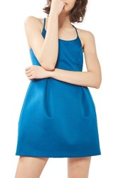 Topshop Women's Fit And Flare Minidress Blue