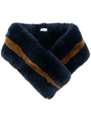P.A.R.O.S.H. Fur Collar Scarf Blue