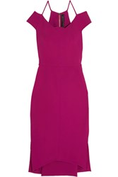 Roland Mouret Beatrix Cutout Stretch Crepe Dress Pink