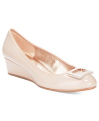 Bandolino Tad Wedge Pumps Natural