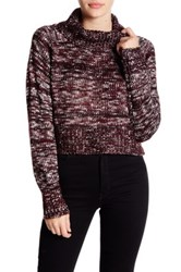 Romeo And Juliet Couture Marled Turtleneck Sweater Red