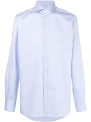 Xacus Pinstripe Button Down Shirt White