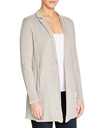 Majestic Filatures Linen Notch Collar Cardigan Rock Hand Dyed