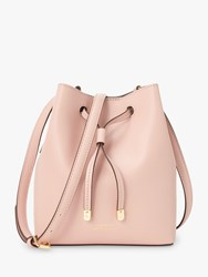 Ralph Lauren Dryden Debby Leather Bucket Bag Mellow Pink