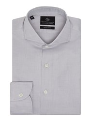 Chester Barrie Textured Tailored Fit Long Sleeve Shirt Grey