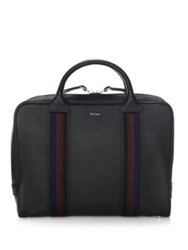 Paul Smith Top Zip Leather Briefcase Black