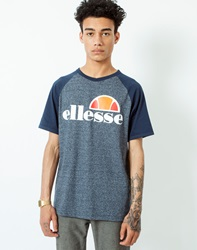Ellesse Raglan T Shirt With Navy Marl