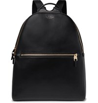 Smythson Bond Leather Backpack Black