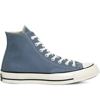 Converse All Star 70 High Top Canvas Trainers Blue Coast Egret