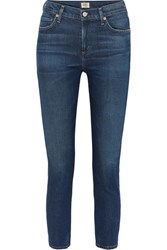 Citizens Of Humanity Harlow Mid Rise Straight Leg Jeans Dark Denim