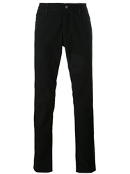 Dolce And Gabbana Straight Leg Jeans Men Cotton Leather 44 Black