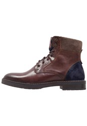 Pier One Laceup Boots Tan Navy Brown