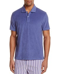 Bloomingdale's The Men's Store At Terry Cloth Regular Fit Polo Shirt Galaxy Blue