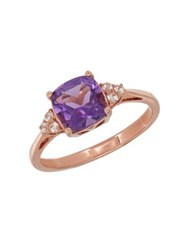 Lord And Taylor Amethyst 14K Rose Gold Ring