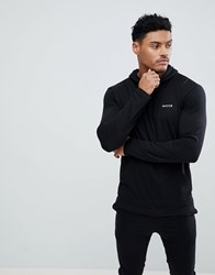 Nicce London Lounge Hoodie With Small Logo Black