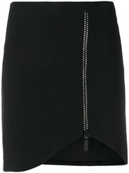 David Koma Crystal Embellished Skirt Black