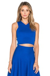 J.O.A. Sleeveless Crop Top Blue