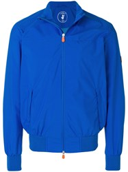 Save The Duck Zip Up Bomber Jacket Blue