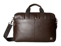 Knomo Brompton Classic Durham Slim Briefcase Brown Briefcase Bags