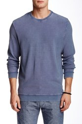 Slate And Stone Long Sleeve Crew Neck Tee Blue