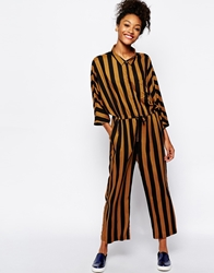 Monki Striped Jumpsuit Multi