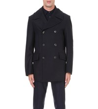 Private White Manchester Wool Peacoat Navy