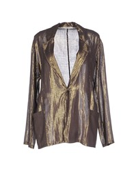 Mes Demoiselles Suits And Jackets Blazers Women Bronze