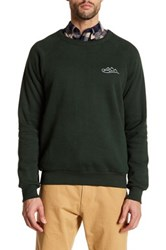 United By Blue Long Sleeve Graphic Knit Pullover Green
