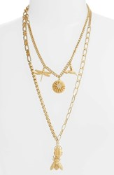 Vince Camuto Layered Charm Necklace Gold