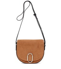 3.1 Phillip Lim Alix Saddle Suede Cossbody Bag Brown