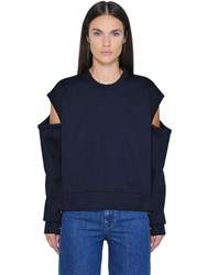 Diesel Black Gold Open Shoulders Neoprene Sweatshirt