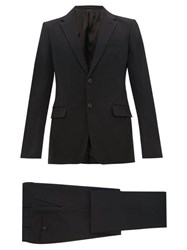 Prada Single Breasted Nylon Gabardine Suit Black