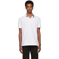 Alexander Mcqueen White Embroidered Logo Polo