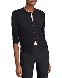 Ralph Lauren Essential Logo Button Cardigan Black