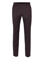 Ben Sherman Men's Oxblood Pick And Pick Camden Trousers Red