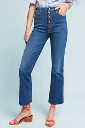 Anthropologie Mother The Hustler High Rise Ankle Jeans Denim Medium Blue