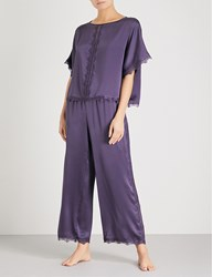Nk Imode Ulrika Silk Satin Pyjama Set Ink