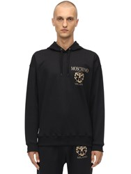 Moschino Logo Cotton Blend Sweatshirt Hoodie Black