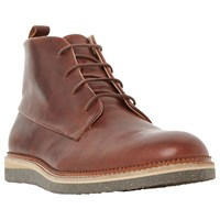 Dune Camden Lock Flecked Wedge Leather Chukka Boots Tan