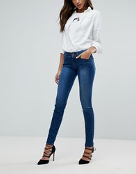 Replay Luz Mid Rise Skinny Jean Midwash Blue