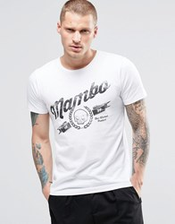 Mambo Skeleton T Shirt White