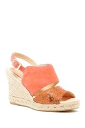 Patricia Green Elise Espadrille Wedge Sandal Orange