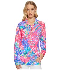 Lilly Pulitzer Upf 50 Skipper Printed Popover Multi Rainbow Soleil Long Sleeve Pullover