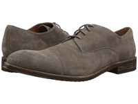 Frye Sam Oxford Charcoal Suede Lace Up Cap Toe Shoes Gray